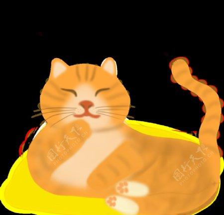 卡通猫咪橘猫图片