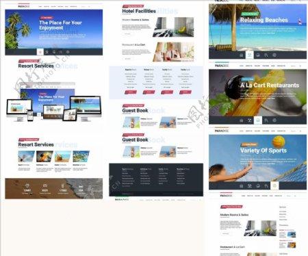 简约企业网站和代码建站图片