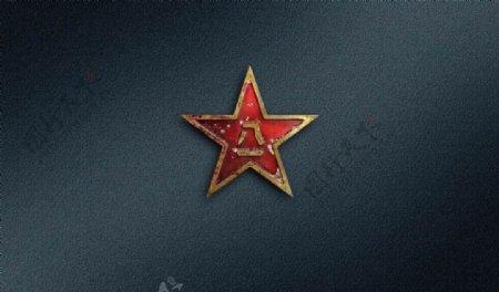 桌面背景五角星高清八一图片