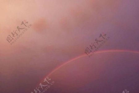 傍晚彩虹图片