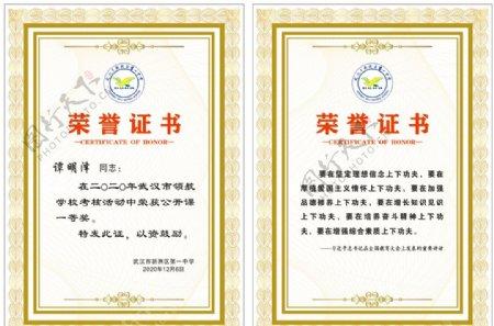 荣誉证书高端证书图片