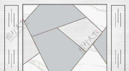 几何大理石色块背景墙图片
