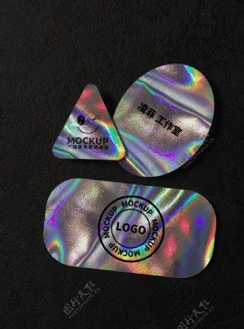 镭射激光logo样机图片