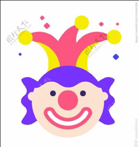 小丑矢量图片