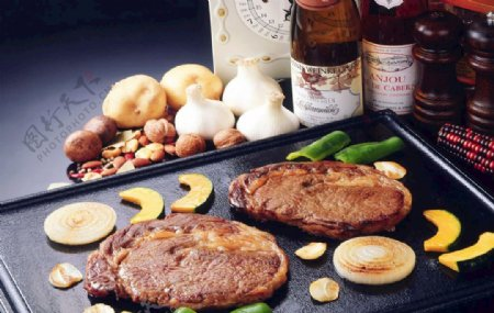美食煎牛排图片