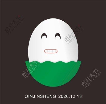 表情包鸡蛋绿色图片