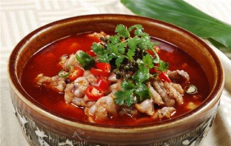 水煮米椒牛蛙图片