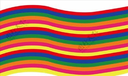 彩虹布图片