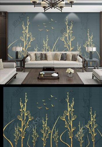 中式古典背景墙图片