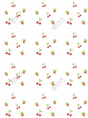 樱桃草莓背景图图片
