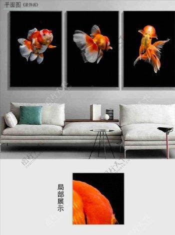 现代简约金色立体装饰画图片