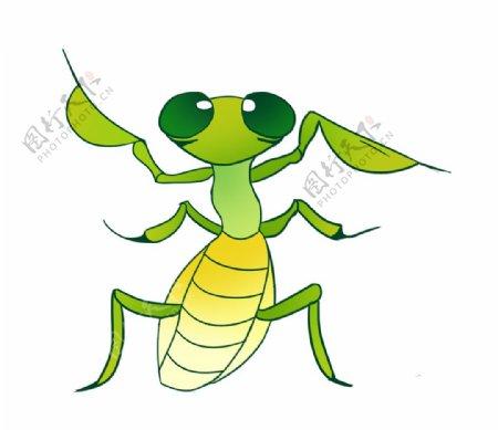 卡通可爱的螳螂图片