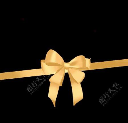 金色丝带彩带蝴蝶花图片