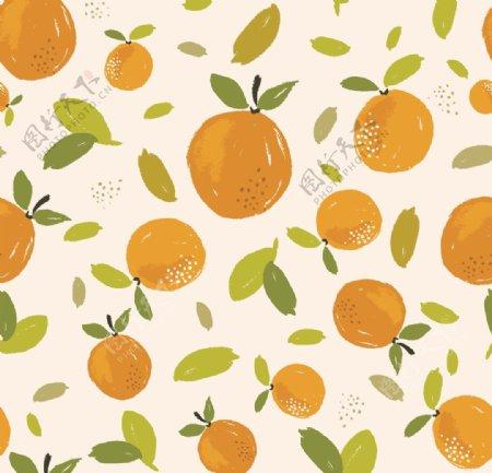 水果橙子手绘水果图片
