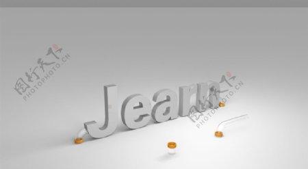 金属质感英文字母图片