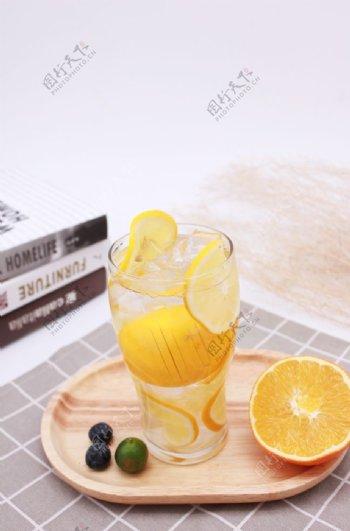 柠檬水冷饮饮品图片