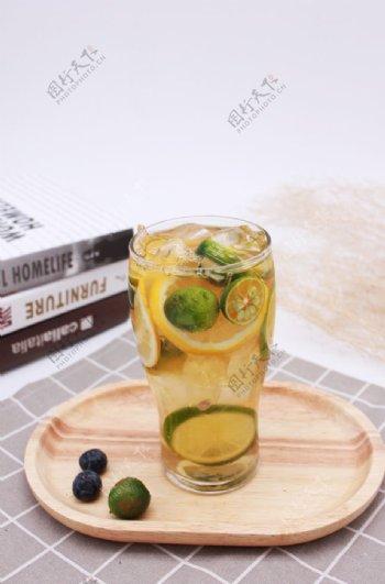 柠檬水茶饮冷饮图片