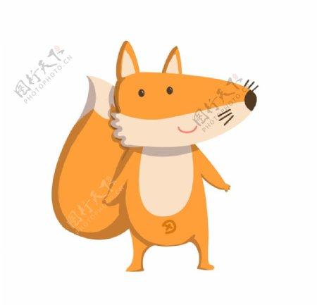 可爱的小狐狸卡通手绘图片