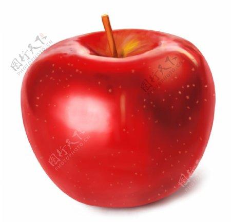 手绘卡通苹果图片