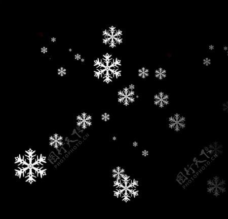 卡通装饰冬季雪花元素图片