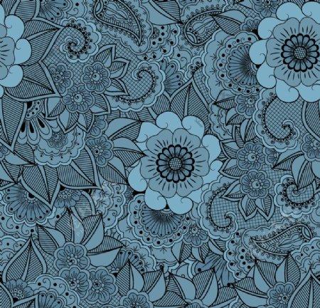 花卉无缝图案图片