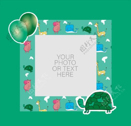 卡通动物卡片图片