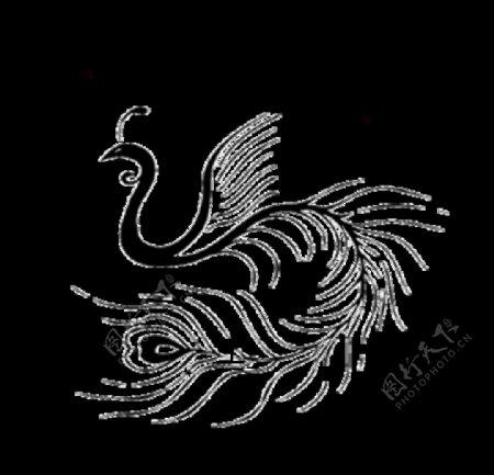 手绘水彩凤凰图片