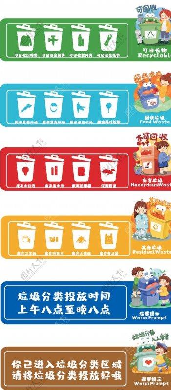 垃圾标识垃圾分类标志图片