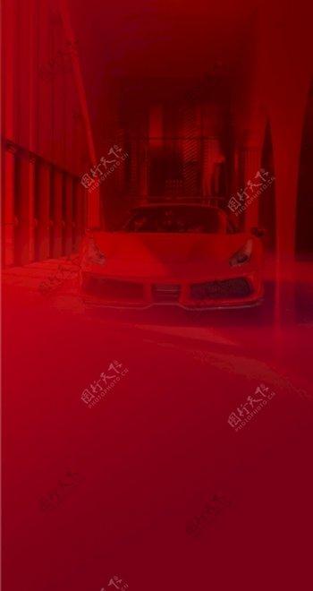 地产红色车位微信背景图片