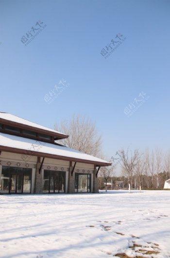 野外别墅背景图片