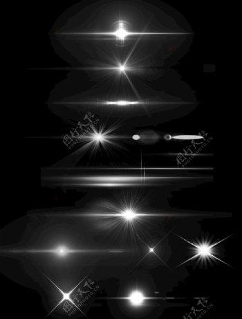 光效星光白色点光图片