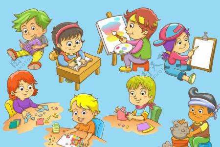 学习的儿童图片