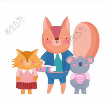 手绘卡通动物图片